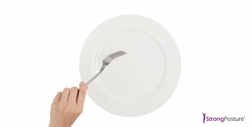 how to eat slower fork down