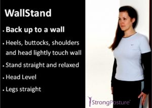posture exercise wall stand
